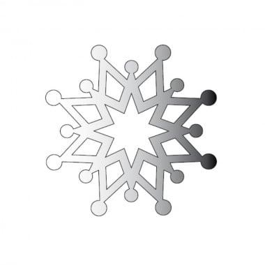 Декоративна фигура Rico Design, КРИСТАЛ 4, SILVER, 4 8/8 cm
