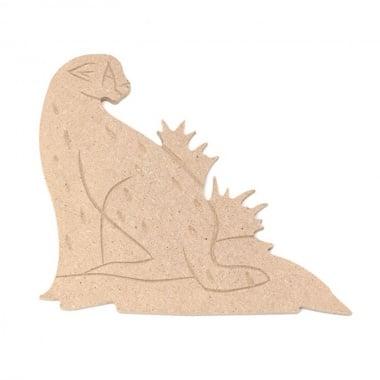 Декоративна фигура Rico Design, ЛЕОПАРД, MDF, 11.5/13.5/0.5 cm