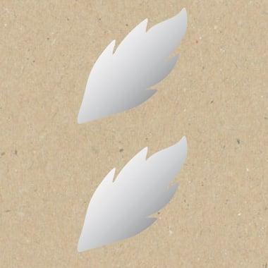 Декоративна фигура Rico Design, ЛИСТ НАТУРАЛЕН, SILVER, 7/3.5 cm