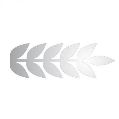 Декоративна фигура Rico Design, ЛИСТ ПЕРЕСТ, SILVER, 7/21 cm