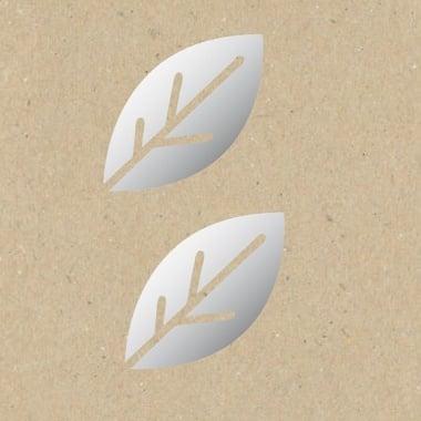 Декоративна фигура Rico Design, ЛИСТ СТИЛИЗИРАН, SILVER, 7/9.5 cm