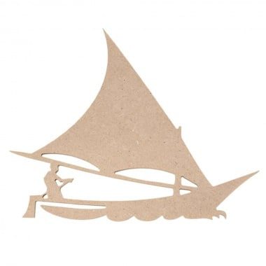 Декоративна фигура Rico Design, ЛОДКА. MDF, 6/8/0.5 cm