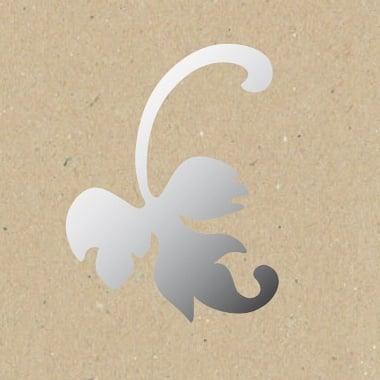 Декоративна фигура Rico Design, ЛЯВ ЛИСТ, SILVER, 6.5/10 cm