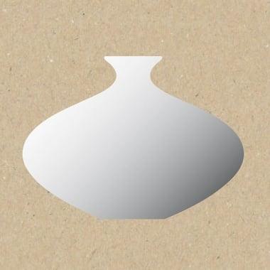 Декоративна фигура Rico Design, МАЛКА ВАЗА, SILVER, 14.5/9.5 cm
