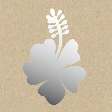 Декоративна фигура Rico Design, МАЛЪК ХИБИСКУС ЦВЯТ, SILVER, 5.5/7.5 cm