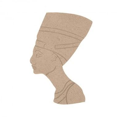 Декоративна фигура Rico Design, НЕФЕРТИТИ, MDF, 16.5/12/0.5 cm