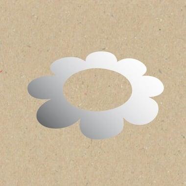 Декоративна фигура Rico Design, ЦВЯТ С ГОЛЯМ ОТВОР, SILVER, 5.5/8.5 cm