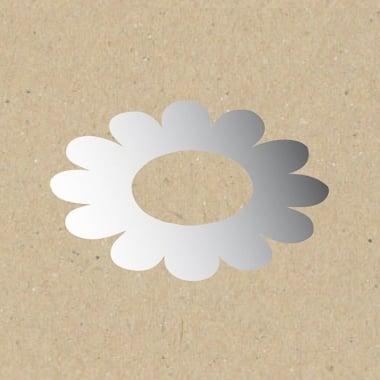 Декоративна фигура Rico Design, ЦВЯТ С СРЕДЕН ОТВОР, SILVER, 5.5/5.5 cm