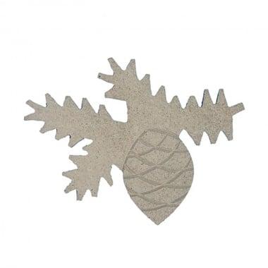 Декоративна фигура Rico Design, ШИШАРКА, MDF, 8/10.5/0.5 cm