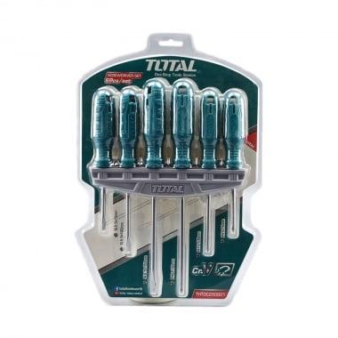 Комплект отвертки с държач TOTAL, SL, PH, 6 части