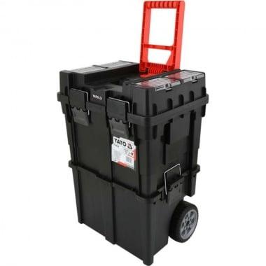 Куфар за инструменти с колела YATO, 2 секции, 495 x 350 x 710 мм