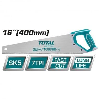 Трион ръчен с 2K дръжка TOTAL INDUSTRIAL, 7 TPI, SK5