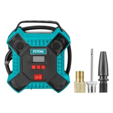 Компресор за гуми TOTAL, 35 L/min, 12 V, 160 PSI