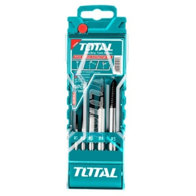 Комплект екстрактори за болтове TOTAL INDUSTRIAL, PVC кутия, 5 броя, 3-18 мм
