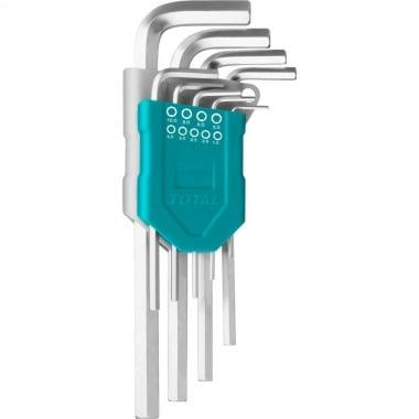 Комплект Г-образни ключове TOTAL Industrial, SW 1.5 - 10 мм, 9 части