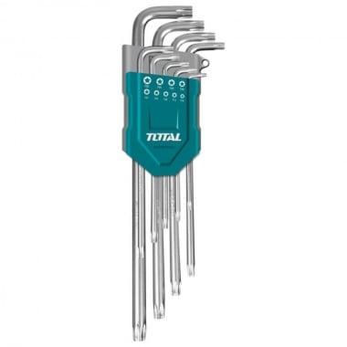 Комплект Г-образни ключове TOTAL Industrial, TX 10 - 50, 9 части
