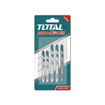 Комплект ножчета за прободен трион TOTAL, дърво, метал, Al, 5 части