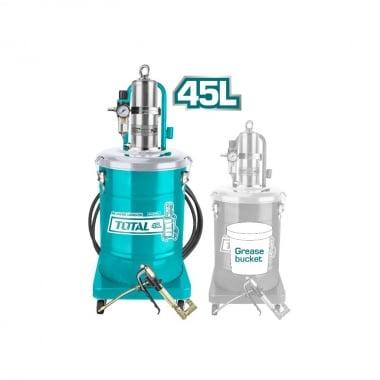 Пневматична система за гресиране TOTAL Industrial, 45 L, 400 bar