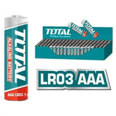 Алкална батерия TOTAL, AAA, 1.5 V, 4 броя