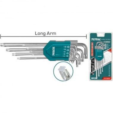 Комплект Г-образни ключове TOTAL Industrial Ex-Long, CrV, TX 10 - 50 мм, 9 броя