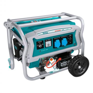 Бензинов генератор с дръжка и колела TOTAL Industrial, 3.5 kW