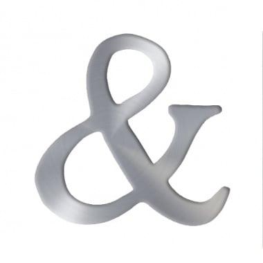 """Декоративен символ RicoDesign, """"&"""", SILVER, 33/30 mm"""