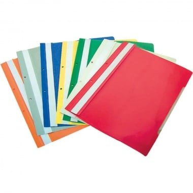 Папка за документи B-MAX, A4, 120/ 180 mc., перфорация, червена