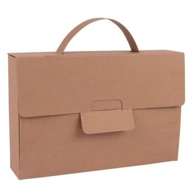 Чанта с една дръжка, 163 x 37 x 109 mm, 350g/m2, Tobacco