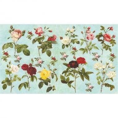 Декупажна хартия, 60 g/m2, 33 x 48 cm, 1л, Диви рози