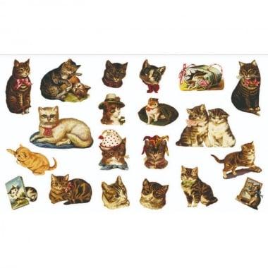 Декупажна хартия, 60 g/m2, 33 x 48 cm, 1л, Котки