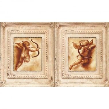 Декупажна хартия, 60 g/m2, 33 x 48 cm, 1л, Купидон в рамка