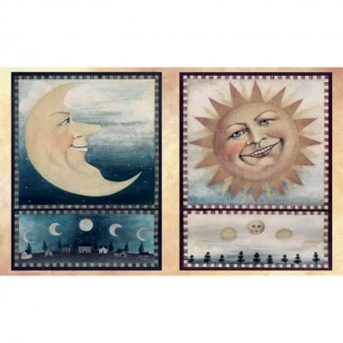 Декупажна хартия, 60 g/m2, 33 x 48 cm, 1л, Слънце и луна
