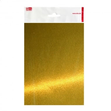 Aлуминиево фолио, 20 х 30 cm / 0.15 mm, 3 бр., злато