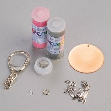 Комплект за изработка на бижута с пудра емайл EFCOLOR, ключодържател Дракон, 1 бр.