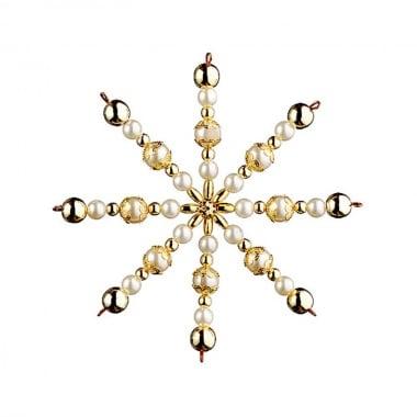 Креативен комплект за направата на звезда от перли, Ø 15 cm, 1 брой, златни/ многоцветни