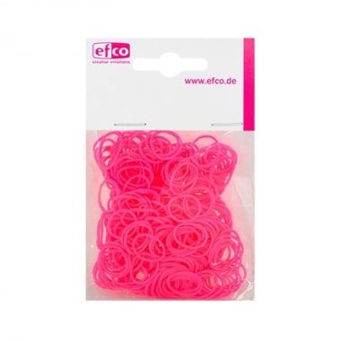 Ластички за плетене на гривни Rubber Loops, 300 бр., яркорозов