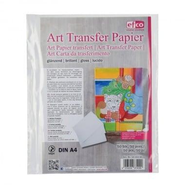 Трансферна хартия, гланцирана, A4, бяла, 1 лист