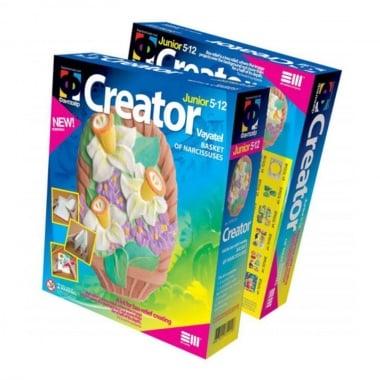Креативен комплект за създаване на гипсова отливка Creator «Basket with narcissuses»
