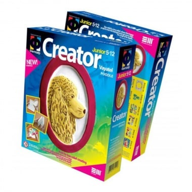 Креативен комплект за създаване на гипсова отливка Creator «Poodle»