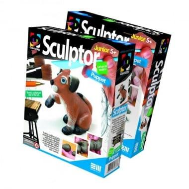 Креативен комплект за моделиране с глина Sculptor «Puppet»