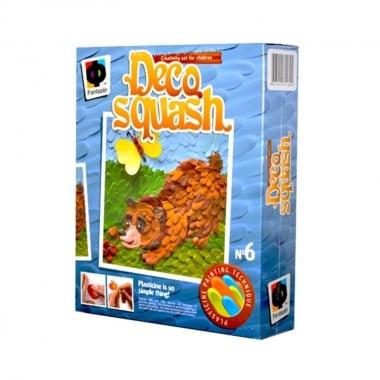 Креативен комплект рисунка с пластелин Deco squash, «Bear and butterflies»