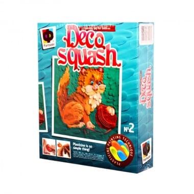 Креативен комплект рисунка с пластелин Deco squash, «Kitty with a clew»