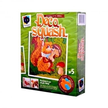 Креативен комплект рисунка с пластелин Deco squash, «Small squirel»