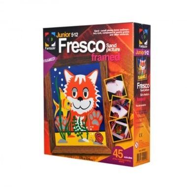 """Креативен комплект рисунка с цветен пясък  Fresco, """"Hello"""""""