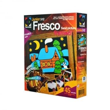 """Креативен комплект рисунка с цветен пясък  Fresco, """"Hut"""""""