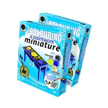 Креативен комплект за рисуване върху дърво Paintwork miniature, «Bureau table»