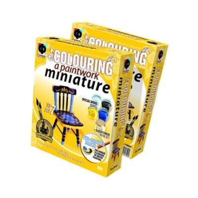 Креативен комплект за рисуване върху дърво Paintwork miniature, «Chair»