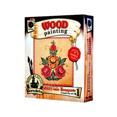 Креативен комплект за рисуване върху дърво Wood painting, «Fairy tale bouquet»