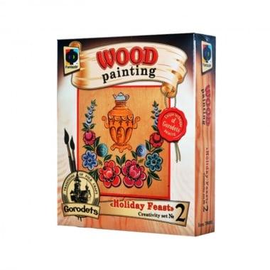 Креативен комплект за рисуване върху дърво Wood painting, «Holiday Feast»