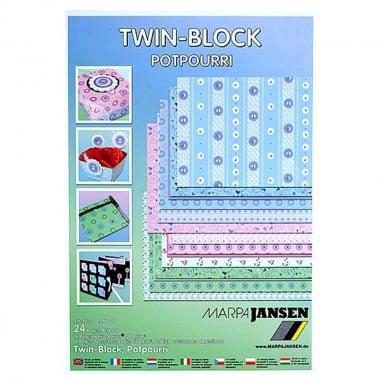 Блок 8 л.цветна хартия / 16 л.варио картон, А4, различни мотиви